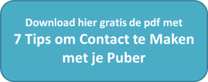 Button gratis 7 tips om contact te maken met je puber